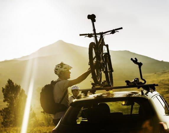 rower na samochodzie